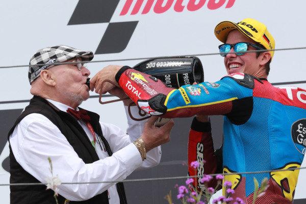 Marc VD Straten, race winner Alex Marquez, Marc VDS Racing.