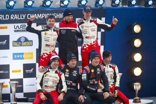 Elfyn Evans (GB), Scott Martin (GB), Kalle Rovanperä (FIN), Jonne Halttunen (FIN), Toyota Gazoo Racing WRT, Toyota Yaris WRC 2020, Ott Tänak (EST), Martin Jarveoja (EST), Hyundai World Rally Team, Hyundai i20 Coupe WRC 2020