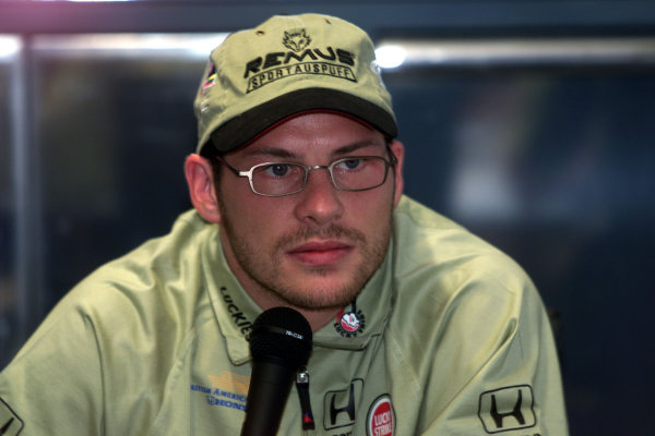 2000 German Grand Prix.Hockenheim, Germany.28-30 July 2000.Jacques Villeneuve (B.A R. Honda) announced that he has resigned for British American Racing for the next three years. World Copyright - Lawrence/LAT Photographicref: 5mb digital
