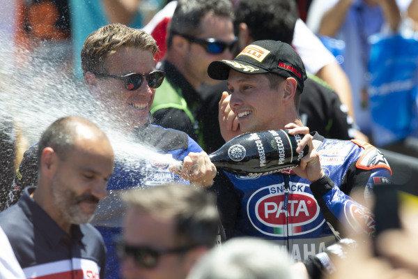 Winner Michael van der Mark, Pata Yamaha, Paul Denning