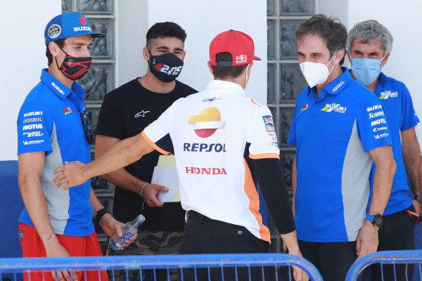 Alex Rins, Team Suzuki MotoGP, Marc Marquez, Repsol Honda Team.
