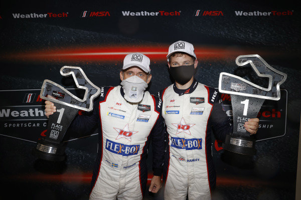 #81 DragonSpeed USA ORECA LMP2 07, LMP2: Henrik Hedman, Ben Hanley, podium