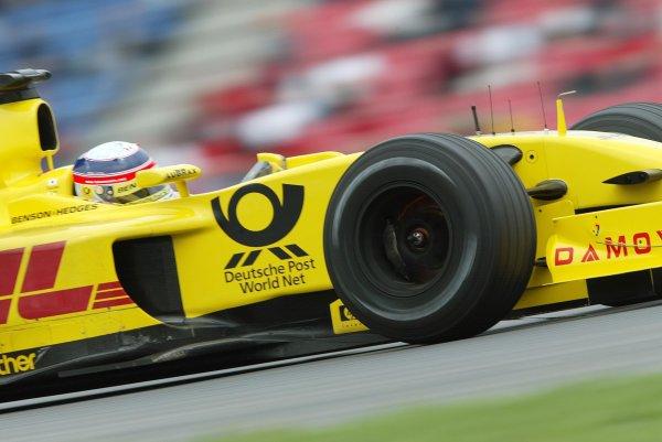 2002 German Grand Prix - PracticeHockenheim, Germany. 26th July 2002.Takuma Sato (Jordan EJ12 Honda).World Copyright: Steve Etherington/LATref: Digital Image Only