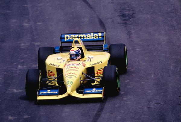 1995 Brazilian Grand Prix.Interlagos, Sao Paulo, Brazil. 24-26 March 1995.Roberto Moreno (Forti FG01-95).Ref-95 BRA 37.World Copyright - LAT Photographic