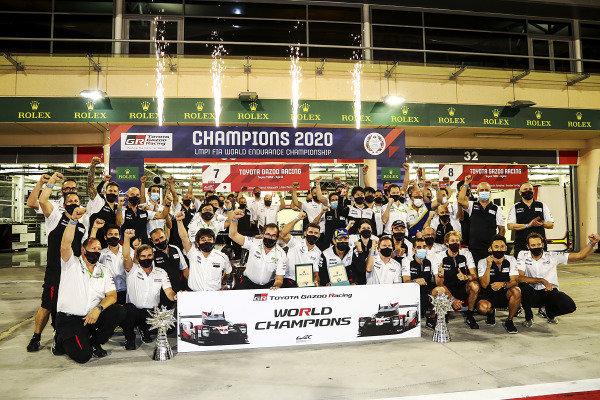 #7 Toyota Gazoo Racing Toyota TS050: Mike Conway, Jose Maria Lopez, Kamui Kobayashi 2020 Champions