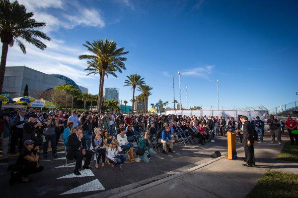 Dan Wheldon Memorial and Victory Circle unveiling ceremony