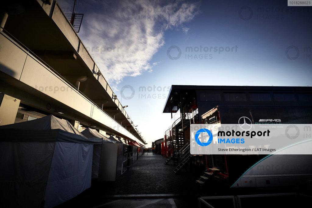 Mercedes-AMG Petronas F1 motorhome in the paddock