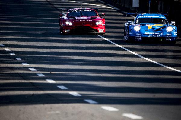 Proton Competition, Porsche 911 RSR: Michele Beretta, Horst Felbermayr Jr, Max van Splunteren & TF Sport, Aston Martin Vantage AMR: Jonathan Adam, Charlie Eastwood, Salih Yoluç