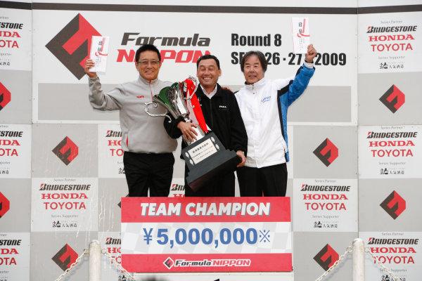 Sugo, Japan. 26th - 27th September 2009.Rd8  - 2009 Team Champion, Podium, portrait.World Copyright: Yasushi Ishihara/LAT Photographicref: Digital Image 2009FN_Rd8_016