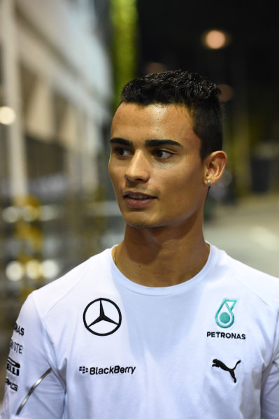 Pascal Wehrlein (GER) Mercedes AMG F1 Reserve Driver. Formula One World Championship, Rd14, Singapore Grand Prix, Marina Bay Street Circuit, Singapore, Qualifying, Saturday 20 September 2014.