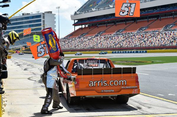 19-20 May, 2016, Concord, North Carolina, USA Daniel Suarez (51) makes a pit stop. ?2016, John Harrelson / LAT Photo USA