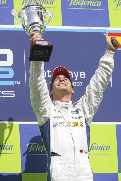 2007 GP2 Series. Round 2. Sunday RaceBarcelona, Spain. 13th May 2007. Timo Glock (GER, iSport International).World Copyright: Andrew Ferraro/GP2 Series Media Sevice  ref: Digital Image ZP9O7173