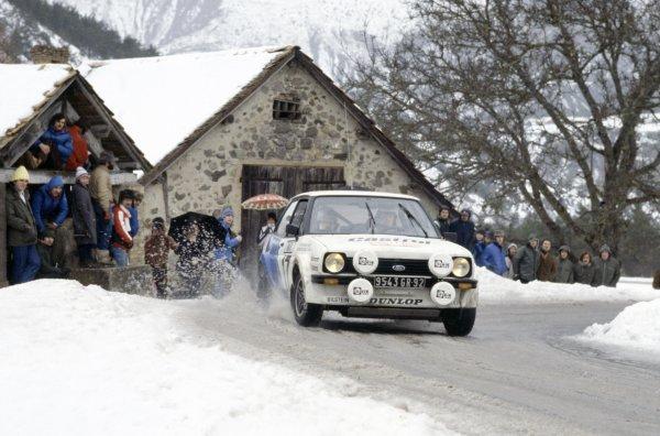 1979 World Rally Championship.Monte Carlo Rally, Monaco. 20-26 January 1979.Ari Vatanen/David Richards (Ford Fiesta), 10th position.World Copyright: LAT PhotographicRef: 35mm transparency 79RALLY15