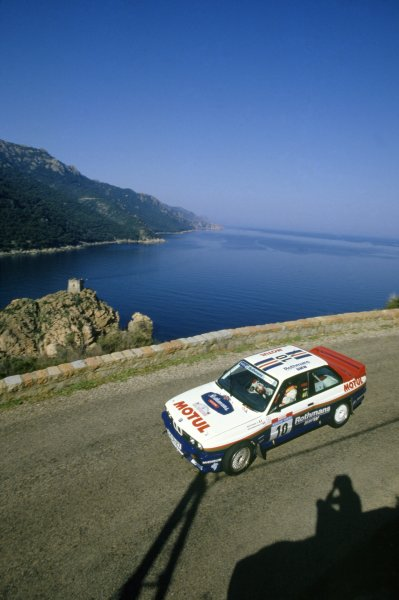 1987 World Rally Championship.Tour de Corse, Corsica, France. 7-9 May 1987.Bernard Beguin/Jean-Jacques Lenne (BMW M3), 1st position.World Copyright: LAT PhotographicRef: 35mm transparency 87RALLY05