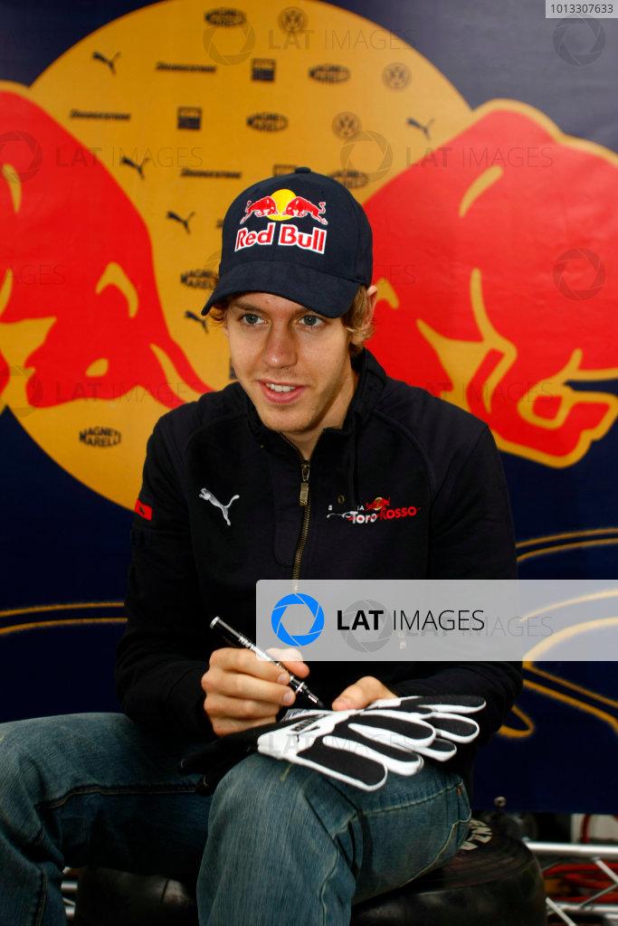 Interlagos, Sao Paulo, Brazil1st November 2008Sebastian Vettel, Toro Rosso STR03 Ferrari. Portrait. World Copyright: Charles Coates/LAT Photographicref: Digital Image _26Y8694