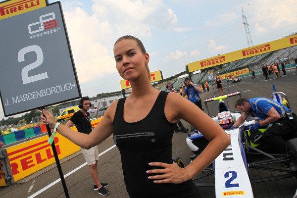 Grid Girls on the grid at GP3 Series, Rd4, Hungaroring, Hungary, 24-26 July 2015.