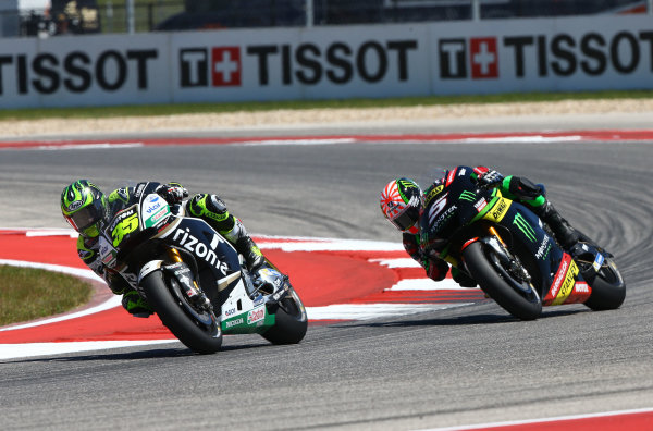 2017 MotoGP Championship - Round 3 Circuit of the Americas, Austin, Texas, USA Sunday 23 April 2017 Cal Crutchlow, Team LCR Honda, Johann Zarco, Monster Yamaha Tech 3 World Copyright: Gold and Goose Photography/LAT Images ref: Digital Image MotoGP-R-500-3033