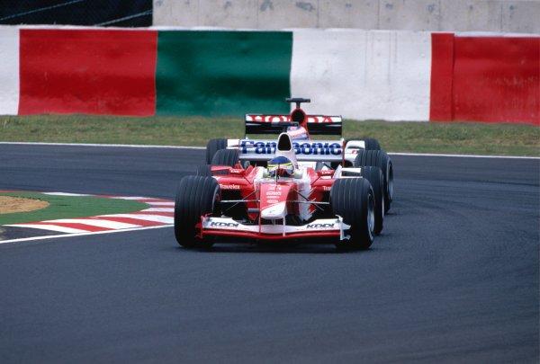 2003 Japanese Grand PrixSuzuka, Japan. 10th - 112th October 2003.Cristiano da Matta, Toyota TF103, actionWorld Copyright: PICME / LAT Photographic ref: 35mm Image 03JAP07