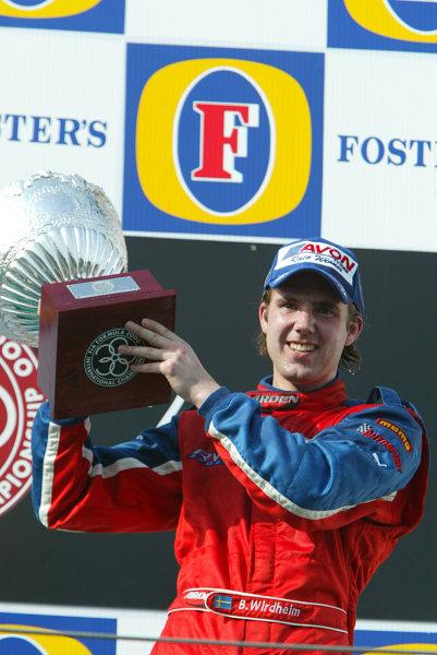 2003 Formula 3000 ChampionshipF3000, Imola, Italy. 19th April 2003. Podium. World Copyright LAT Photographic. ref: Digital Image Only