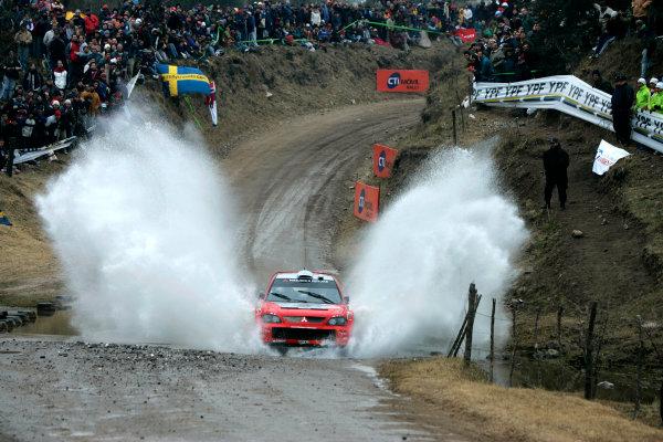 2004 FIA World Rally Championship, Round 8Rally Argentina. 15th-18th July 2004Gilles Panizzi, Mitsubishi, ActionWorld Copyright: McKlein/LAT Photographic