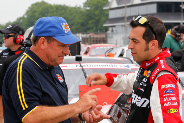 21-22 June, 2013, Elkhart Lake, Wisconsin USA Ken Schrader and Sam Hornish Jr © 2013, Russell LaBounty LAT Photo USA .
