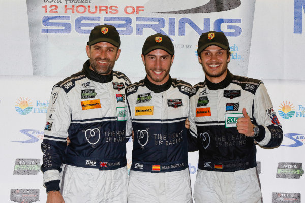 19-21 March, 2015, Sebring, Florida, USA GTD Winners 23, Porsche, 911 GT America, GTD, Ian James, Mario Farnbacher, Alex Riberas, ©2015, Michael L. Levitt LAT Photo USA