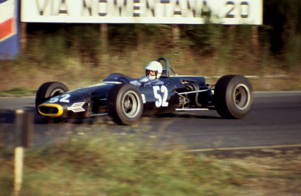 1968 European F2 Championship. Vallelunga, Italy. 27th October 1968. Rd 9. Max Mosley (Brabham BT23C-Cosworth), 14th position, action. World Copyright: LAT Photographic.