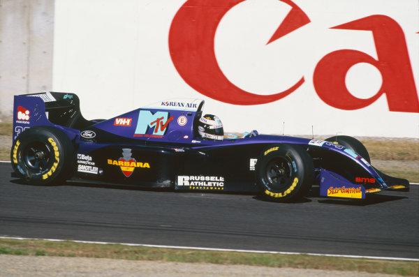 1994 Japanese Grand Prix  Suzuka, Japan. 4-6th November 1994.  Taki Inoue, Simtek S941 Ford, retired.  Ref: 94JAP19. World copyright: LAT Photographic