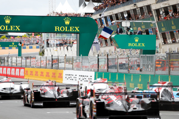 Rafael Nadal starts the 86th 24 Hours of Le Mans.