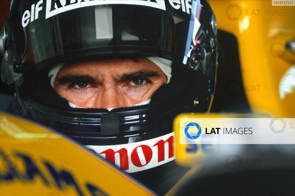 Damon Hill, portrait. World Copyright: LAT Photographic.Ref:  Colour Transparency