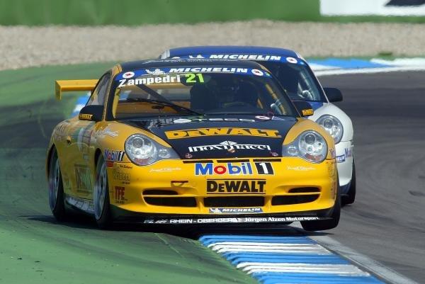Alessandro Zampedri (ITA) DeWalt Racing.Porsche Supercup, Rd8, Hockenheim, Germany,3 August 2003.DIGITAL IMAGE