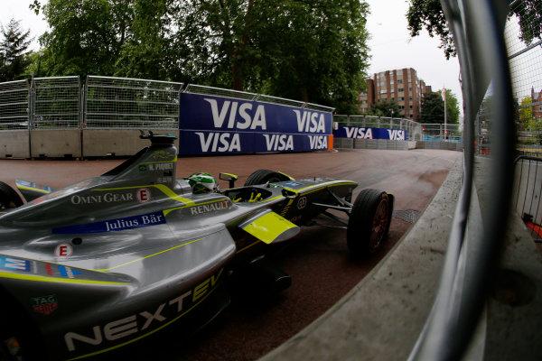 2014/2015 FIA Formula E Championship. London ePrix, Battersea Park, London, United Kingdom. Sunday 28 June 2015 Nelson Piquet Jr (BRA)/China Racing - Spark-Renault SRT_01E Photo: Zak Mauger/LAT/Formula E ref: Digital Image _L0U0137