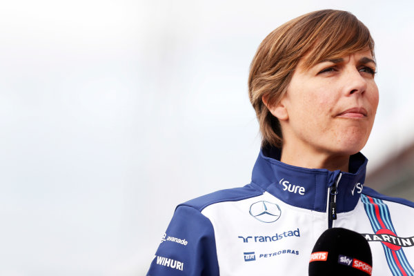 Silverstone Circuit, Northamptonshire, England. Thursday 2 July 2015. Claire Williams, Deputy Team Principal, Williams F1. World Copyright: Alastair Staley/LAT Photographic ref: Digital Image _R6T2917