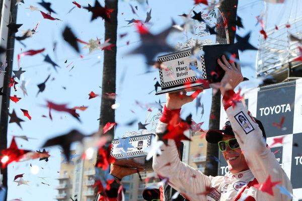17-19 April, 2015, Long Beach, California USA Scott Dixon celebrates in victory lane ?2015, Russell LaBounty LAT Photo USA