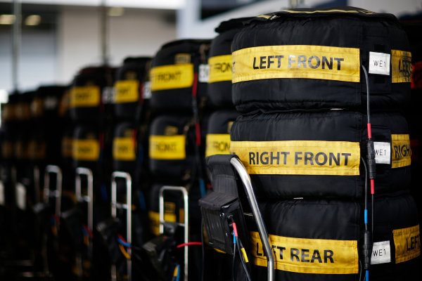 Red Bull Ring, Spielberg, Austria. Friday 19 June 2015. Tyres in warmers. World Copyright: Alastair Staley/LAT Photographic. ref: Digital Image _R6T0807
