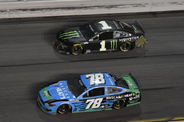 #78: BJ McLeod, Live Fast Motorsports, Ford Mustang, #1: Kurt Busch, Chip Ganassi Racing, Chevrolet Camaro Monster Energy