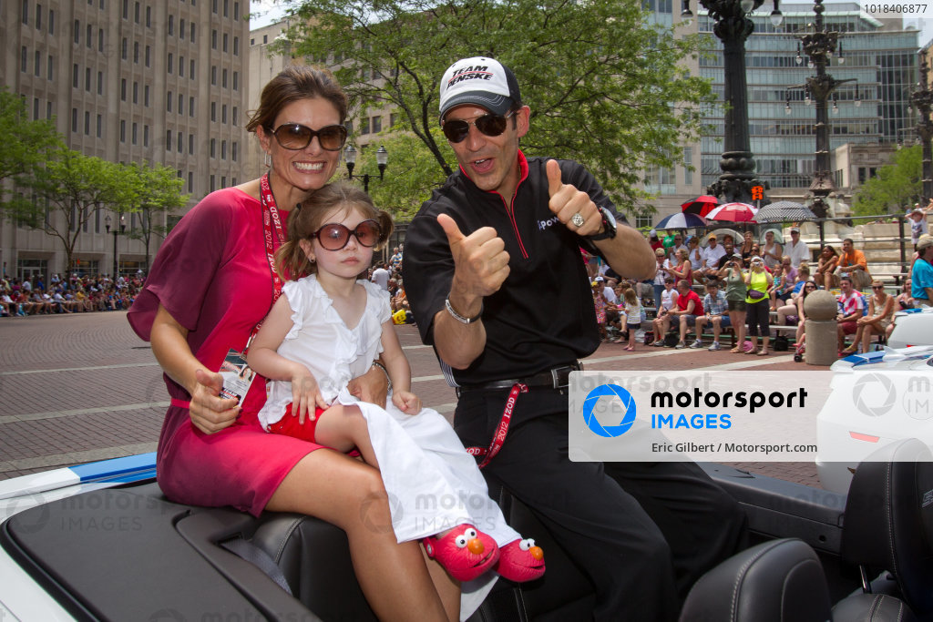 Indy 500 festival parade: Helio Castroneves, Team Penske Chevrolet