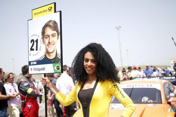 Grid girl of Pietro Fittipaldi, Audi Sport Rosberg.