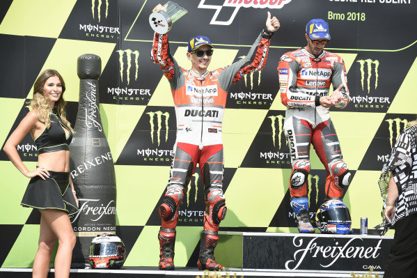 Podium: race winner Andrea Dovizioso, Ducati Team, second place Jorge Lorenzo, Ducati Team.