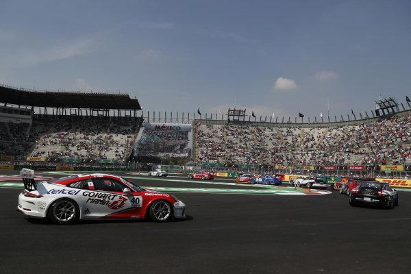 race action at Porsche Supercup, Rd11 Circuit Hermanos Rodriguez, Mexico City, Mexico, 27-29 October 2017.