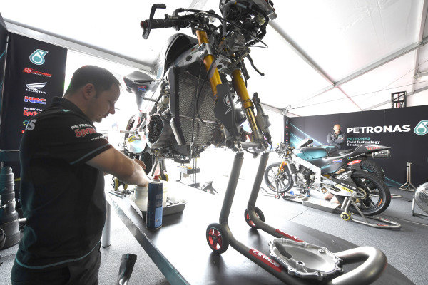 SIC Racing Team garage atmosphere.