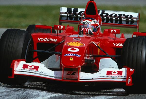 2002 San Marino Grand Prix.Imola, Italy.12-14 April 2002.Rubens Barrichello (Ferrari F2002) 2nd position.Ref-02 SM 35.World Copyright - LAT Photographic