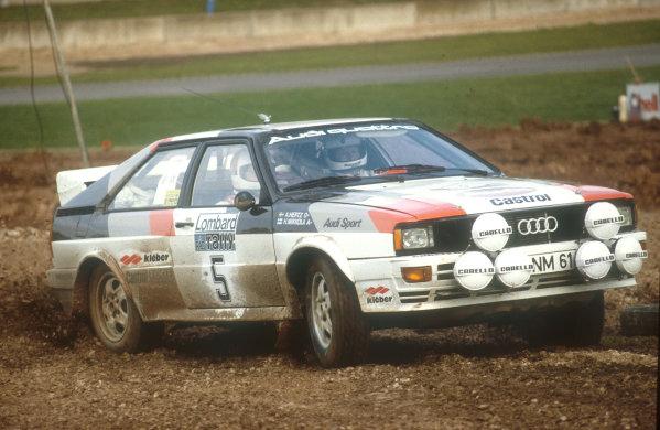 1981 World Rally Championship.Lombard RAC Rally, United Kingdom.22-25 November 1981.Hannu Mikkola/Arne Hertz (Audi Quattro) 1st position.Ref-81 RAC 01.World Copyright - LAT Photographic
