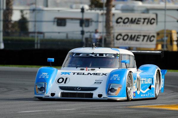 4 July, 2009, Daytona Beach, Florida USA#01 Chip Ganassi Racing with Felix Sabates Lexus/Riley of Scott Pruett,Memo Rojas©2009 F Peirce Williams, USALAT Photographic