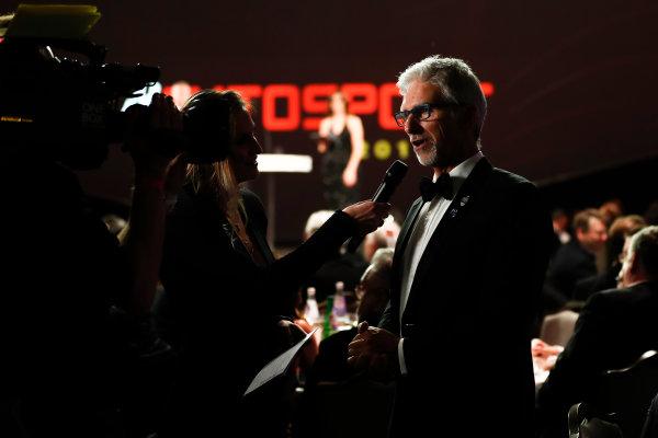 2017 Autosport Awards Grosvenor House Hotel, Park Lane, London. Sunday 3 December 2017. Damon Hill. World Copyright: Joe Portlock/LAT Images Ref: Digital Image _o3i6880