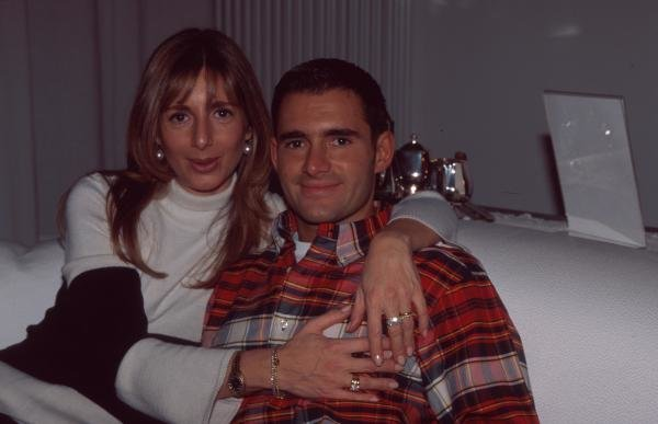 Gianni Morbidelli at home with his wife