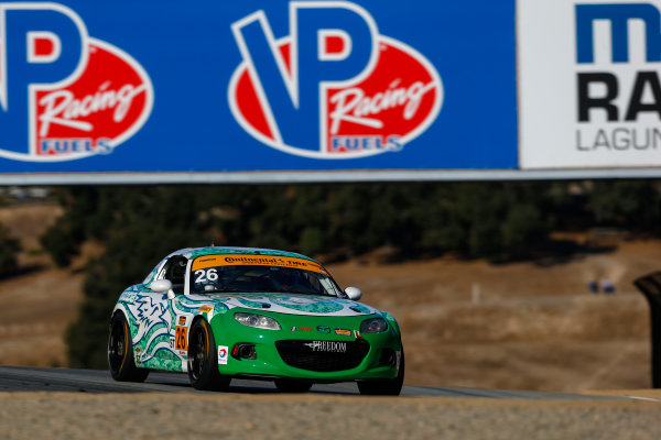 IMSA Continental Tire SportsCar Challenge Mazda Raceway Laguna Seca 240 Mazda Raceway Laguna Seca Monterey, CA USA Friday 22 September 2017 26, Mazda, Mazda MX-5, ST, Andrew Carbonell, Liam Dwyer World Copyright: Jake Galstad LAT Images