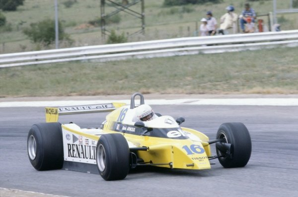 1980 South African Grand Prix.Kyalami, South Africa. 28 February-1 March 1980.Rene Arnoux (Renault RE20), 1st position.World Copyright: LAT PhotographicRef: 35mm transparency 80SA17