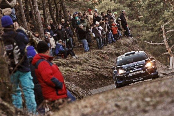 Mikko Hirvonen (FIN) / Jarmo Lehtinen (FIN), Ford Fiesta RS WRC on the shakedown stage. FIA World Rally Championship, Rd1, Rally Monte Carlo, Preparatons, Monte Carlo, 13-15 January 2014.