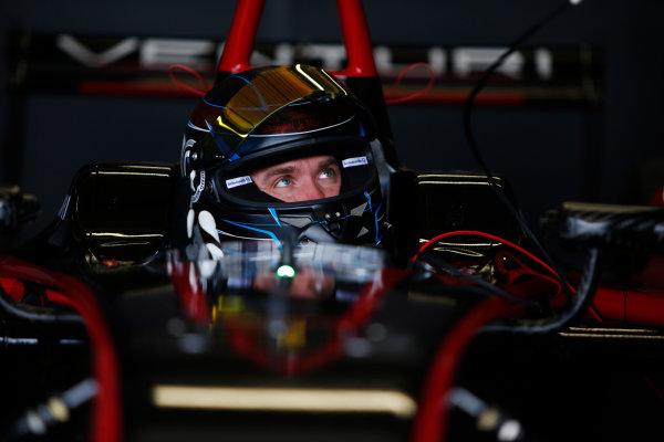 FIA Formula E Test Day, Donington Park, UK.  3rd - 4th July 2014.  Nick Heidfeld, Venturi Grand Prix. Photo: Zak Mauger/FIA Formula E ref: Digital Image _L0U4818